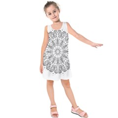 Art Coloring Flower Page Book Kids  Sleeveless Dress