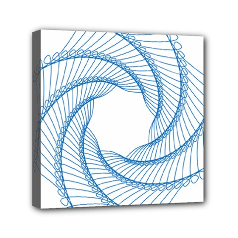 Spirograph Spiral Pattern Geometric Mini Canvas 6  X 6