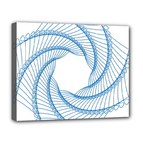 Spirograph Spiral Pattern Geometric Deluxe Canvas 20  X 16