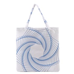 Spirograph Spiral Pattern Geometric Grocery Tote Bag