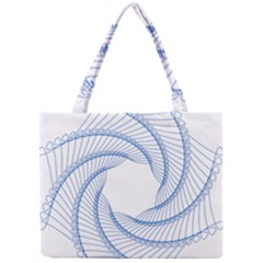 Spirograph Spiral Pattern Geometric Mini Tote Bag