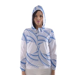 Spirograph Spiral Pattern Geometric Hooded Wind Breaker (Women)