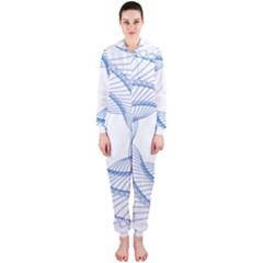 Spirograph Spiral Pattern Geometric Hooded Jumpsuit (ladies)
