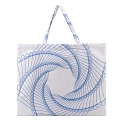 Spirograph Spiral Pattern Geometric Zipper Large Tote Bag