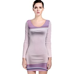 Background Image Greeting Card Heart Long Sleeve Bodycon Dress