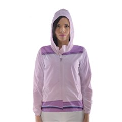 Background Image Greeting Card Heart Hooded Wind Breaker (Women)