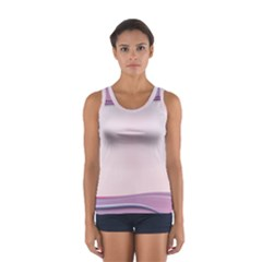 Background Image Greeting Card Heart Women s Sport Tank Top