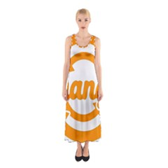 Think Switch Arrows Rethinking Sleeveless Maxi Dress