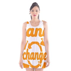 Think Switch Arrows Rethinking Scoop Neck Skater Dress