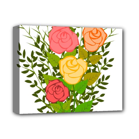 Roses Flowers Floral Flowery Deluxe Canvas 14  x 11