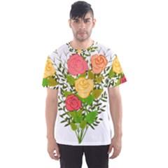 Roses Flowers Floral Flowery Men s Sport Mesh Tee
