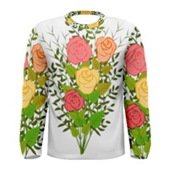 Roses Flowers Floral Flowery Men s Long Sleeve Tee
