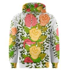 Roses Flowers Floral Flowery Men s Pullover Hoodie