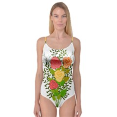 Roses Flowers Floral Flowery Camisole Leotard