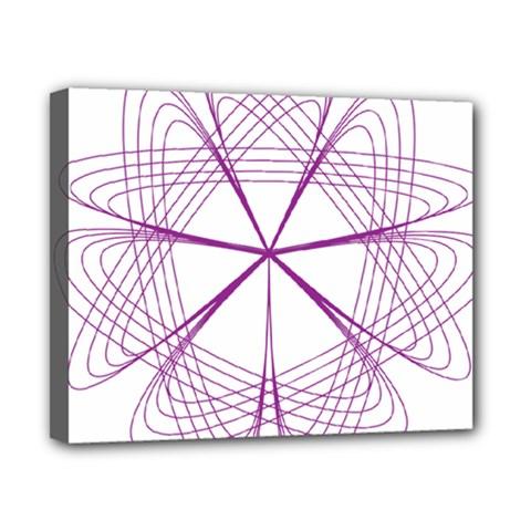 Purple Spirograph Pattern Circle Geometric Canvas 10  x 8