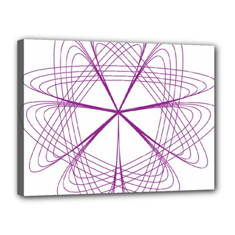 Purple Spirograph Pattern Circle Geometric Canvas 16  X 12