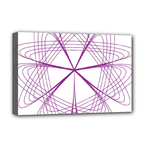 Purple Spirograph Pattern Circle Geometric Deluxe Canvas 18  X 12