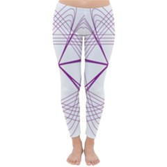 Purple Spirograph Pattern Circle Geometric Classic Winter Leggings