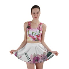 Flowers Twig Corolla Wreath Lease Mini Skirt