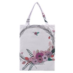 Flowers Twig Corolla Wreath Lease Classic Tote Bag