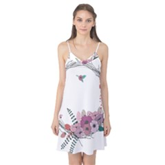 Flowers Twig Corolla Wreath Lease Camis Nightgown