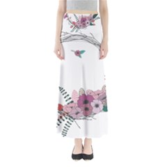 Flowers Twig Corolla Wreath Lease Maxi Skirts