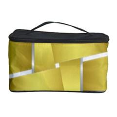 Logo Cross Golden Metal Glossy Cosmetic Storage Case