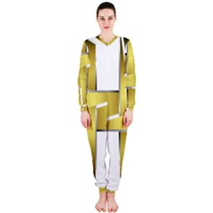 Logo Cross Golden Metal Glossy Onepiece Jumpsuit (ladies)