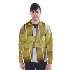 Logo Cross Golden Metal Glossy Wind Breaker (Men)