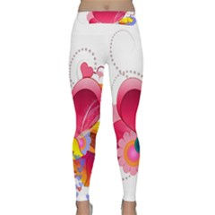 Heart Red Love Valentine S Day Classic Yoga Leggings