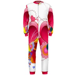 Heart Red Love Valentine S Day Onepiece Jumpsuit (men)