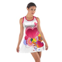Heart Red Love Valentine S Day Cotton Racerback Dress