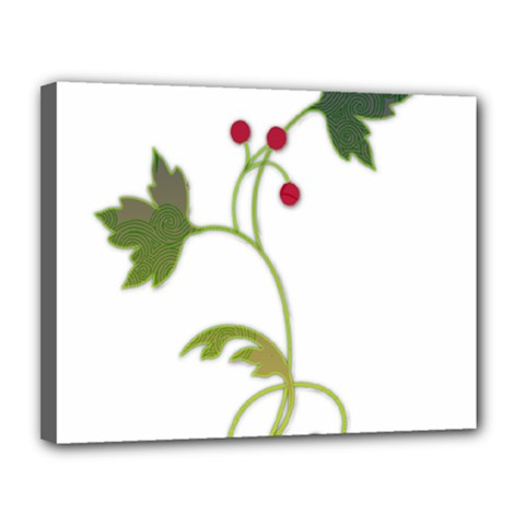 Element Tag Green Nature Canvas 14  X 11