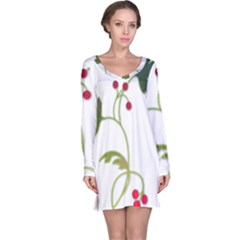Element Tag Green Nature Long Sleeve Nightdress