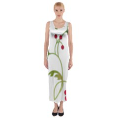 Element Tag Green Nature Fitted Maxi Dress