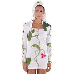 Element Tag Green Nature Women s Long Sleeve Hooded T Shirt