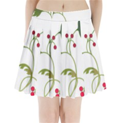 Element Tag Green Nature Pleated Mini Skirt
