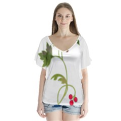 Element Tag Green Nature Flutter Sleeve Top