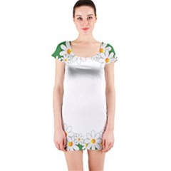 Photo Frame Love Holiday Short Sleeve Bodycon Dress