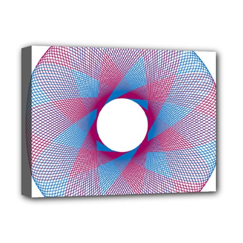 Spirograph Pattern Drawing Design Deluxe Canvas 16  X 12