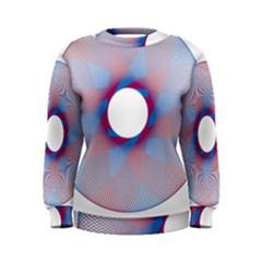 Spirograph Pattern Drawing Design Women s Sweatshirt