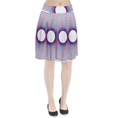 Spirograph Pattern Drawing Design Pleated Skirt