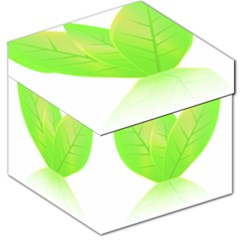 Leaves Green Nature Reflection Storage Stool 12