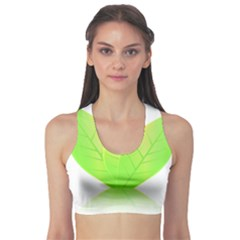 Leaves Green Nature Reflection Sports Bra