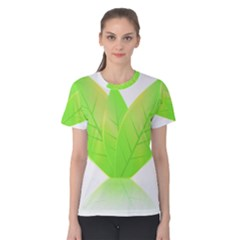 Leaves Green Nature Reflection Women s Cotton Tee