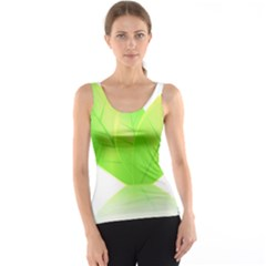 Leaves Green Nature Reflection Tank Top