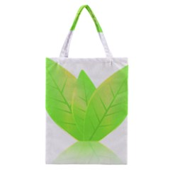 Leaves Green Nature Reflection Classic Tote Bag