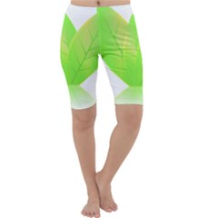 Leaves Green Nature Reflection Cropped Leggings
