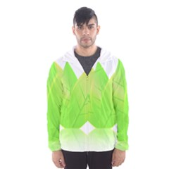 Leaves Green Nature Reflection Hooded Wind Breaker (Men)