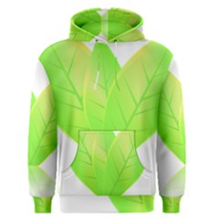 Leaves Green Nature Reflection Men s Pullover Hoodie